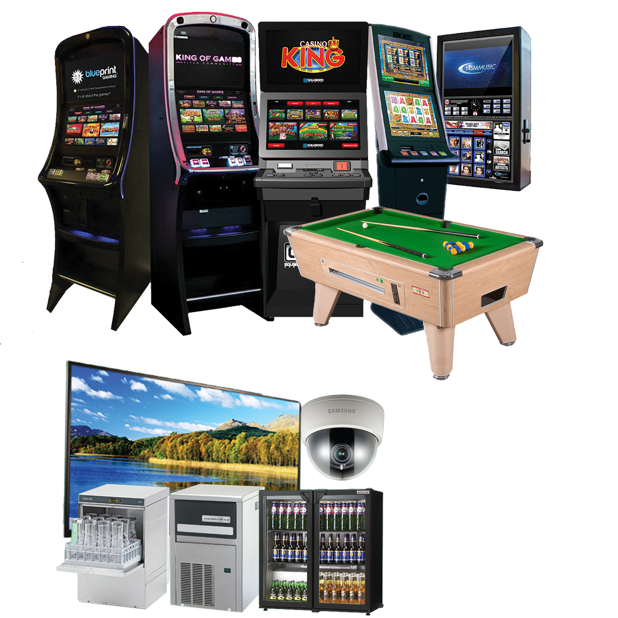 Category C and B4 digital fruit machines, pool table, jackpot lottery and juke box. Backbar equipment, glass washer, drinks cooler, ice machine, CCTV, large screen TV