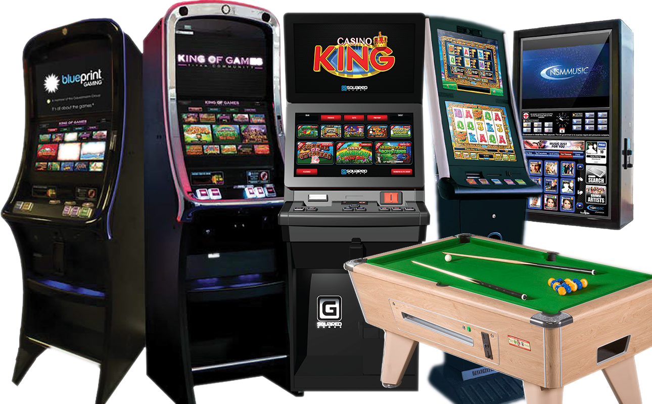 Fruit machines cat c and b4, pool table, jackpot lottery and juke boxes