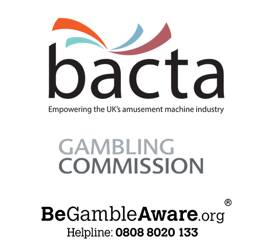 BACTA Logo, Be Gamble Aware Logo, The Gambling Commission Logo